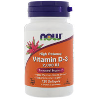 NOW Vitamin D3 2000ME 120gelcaps