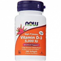 NOW Vitamin D3 5000ME 240 caps