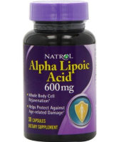 Natrol Alpha Lipoic Acid 600mg 30 капс