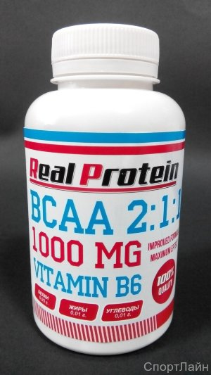 REALPROTEIN BCAA 2:1:1 +B6 180 caps