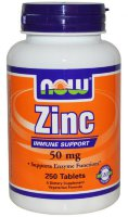 Now Zink Glutonate 50mg 250 таб.