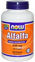 NOW Alfalfa 650 mg (250 таб)