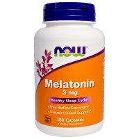 NOW Melatonin 3 мг. 180 капс.