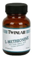 Twinlab L-methionine 500mg 30 caps