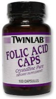 TwinLab Folic Acid 800Mcg 100 caps