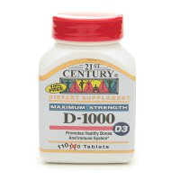 21st Century Health Care, D-1000, D3, Extra Strength, 110 Tab