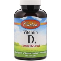 Carlsen Vitamin D3 5000ME 360softgels